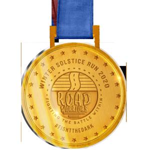 Solstice Virtual Run Medal